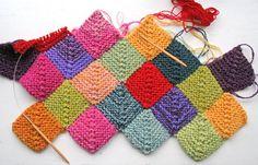 little colorful stash-squares pillow case