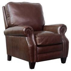 The Barcalounger Briarwood Recliner is going to go anywhere classic style is appreciated from your living room to your den to your cigar lounge. Barcalounger, Brown Leather Chairs, Leather Recliner, Upholstered Furniture, Cowhide Furniture, Cool Chairs, Seat Cushions, Armchair, Upholstery