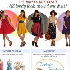 This is an example of marketing that reinforces the Manic Pixie vintage aspect of style. ModCloth uses ads like these all the time, spotlighting retro and vintage fashion, along with modern eclectic pieces.