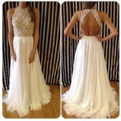 Dress: ptom, white, silver, long, stunning, long prom dresses, white dress, white lace dress, prom, long dress, sparkles, glitter, perfect, sleek, chic, tumblr, tumblr girl, tumblr clothes, prom dress, sequin dress, cream - Wheretoget