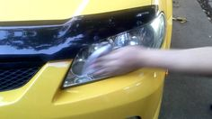 Toothpaste does not work!! But bug spray does!! I cleaned 2 cars' headlights in 2 minutes. Wow!!