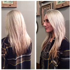 Sara came in a few weeks ago thinking she wanted to tone down her blonde. Fast forward to today she wanted to go back to an icy blonde. We lightened her hair and toned to this gorgeous silver blonde. Icy Blonde, Silver Blonde, Her Hair, Long Hair Styles, Beauty, Instagram, Long Hairstyle, Long Haircuts, Long Hair Cuts