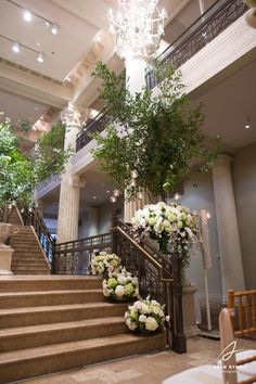 Stairs decorated for entrance /exit to the Wedding.. Beautiful