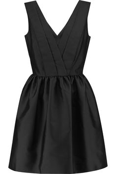 KARL LAGERFELD Milly Satin-Twill Dress. #karllagerfeld #cloth #dress