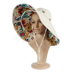 Womens Beach Sun Hat UV Protective Bucket hat + Large Brim Foldable Roll Up  OZ Bucket d488870096ff