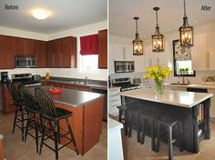 yummy before and after...makes you hopeful for a dream house when you are like us and bought a fixer upper!!!