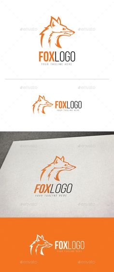 Fox Logo by DurArt LOGO TEMPLATE Logos are vector based built in Illustrator software. They are fully editable and scalable without losing resolutio