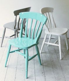 Christopher Howe takes the classic beechwood Windsor and gives it a high gloss finish in custom paint colors. His Painted Windsor Chairs are £225 each at Howe in London.