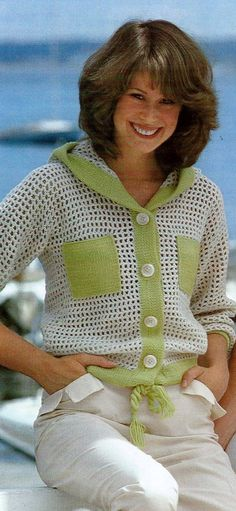 Mesh Jacket with Lime Trim by MomentsInTwine on Etsy