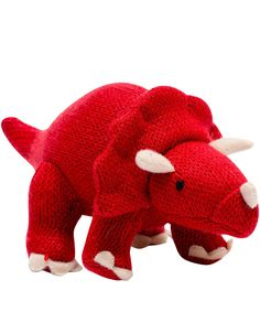 Best Years Red Triceratops Crochet Soft Toy   Soft Toys by Best Years   Liberty.co.uk