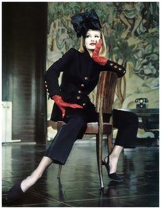 Karen Mulder by Helmut Newton for Vogue, September 1992