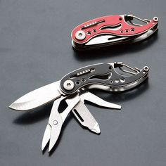 Portable Knifes For Outdoor Multifunctional Pocket EDC Folding Knife Scissors Screwdriver Key Chain Survival Kits Multitool AA(China (Mainland))