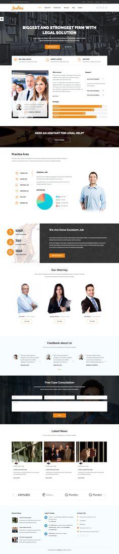 JUSTICE – Law & Business WordPress Theme