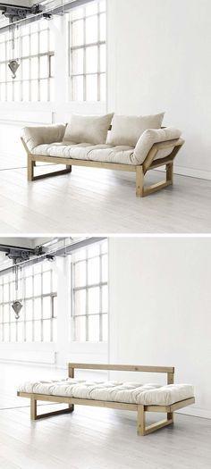Sofa cama ahorrador de espacio y elegante