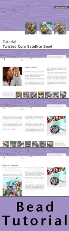 Twistes Core Satellite Tutorial - This is a bead technique I don't teach in my workshop. Click here to order your copy https://www.etsy.com/listing/120759904/lampwork-tutorial-twisted-core-satellite?ref=shop_home_active_4