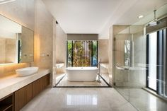 Building with marble brightens up the room  #Bathroom #Interiors