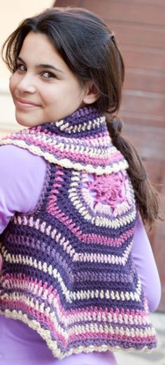 Spring colors like the ones used in this crochet vest can always brighten your mood.