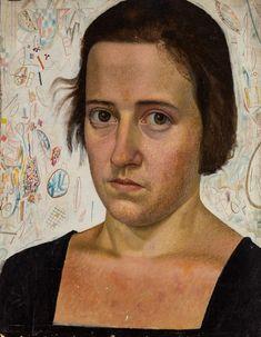 Евгений  Кибрик.  Портрет  жены  -   писательницы  Веры  Кетлинской.