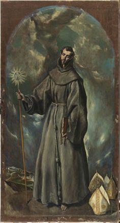 Saint Bernard (of Siena) / San Bernardino (de Siena) // 1603 // El Greco