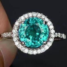 Ring 925 Sterling Silver Neon Green Blue Apatite 3.63 G. Free Resize , Wedding , Birthday