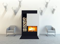 M Design firebox with guillotine door lifts up and out of the way. These fires have the efficiency of a modern stove and can run at efficiency. Open Fireplace, Stove Fireplace, Antibes, Bio Ethanol, Nice Cannes, Modern Stoves, Antalya, Decoration, House Plans