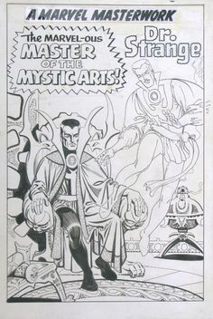 ditko-dr. strange pin-up