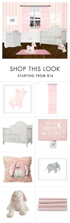 """Pink Nursey"" by libbylu116-1 ❤ liked on Polyvore featuring interior, interiors, interior design, home, home decor, interior decorating, WALL, H&M, Mud Pie and Annette Tatum Collections"