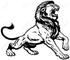 roaring lion illustration - Buscar con Google