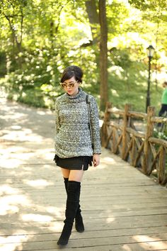 Cozy Sweater, Over the Knee Boots - Keiko Lynn