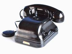 Alte Bakelit Telefon, Hand-Kurbel-Telefon, 50er Jahre Vintage, Wall Mount Telefon, Magneto Hand Crank, industrielle Dekor, seltene Retro Telefon