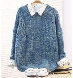 Vintage Twist Cream-colored Rough Sleeve Sweater