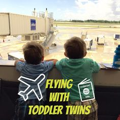 Tips for Flying with Toddler Twins - Survival Guide to staying sane on the plane!