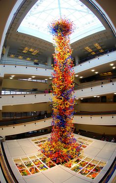 43 feet high made of 3,200 pieces of Chihuly glass. by clarkmaxwell, via Flickr