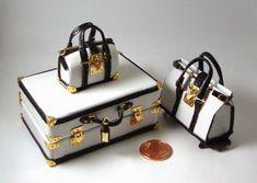 Miniaturas bolsos: Colección viaje binomio blanco y negro