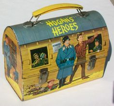 Hogan's Heroes Antique Lunch Box (Old 1966 Vintage Metal Dome Lunchbox) Retro Lunch Boxes, Cool Lunch Boxes, Metal Lunch Box, Vintage Metal, Vintage Toys, Vintage Stuff, Saturday Morning Cartoons 90s, Hogans Heroes, Retro Housewife