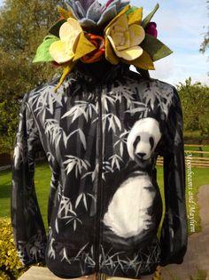 ♥  STRIKING PANDA RAINFOREST FLEECE UK SIZE 10 12 14 16 18 20 HIPPIE JACKET COAT