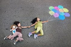 chalk photo props  cute sibling idea