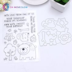 Stamp & Die Set Cartoon Bear & Squirrel Set Ali Express