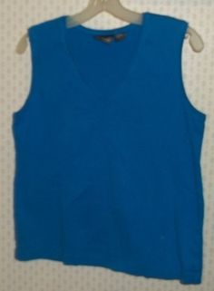 @C99Sale ~ ADDITIONS BY CHICO'S Bright Blue Tank Top Sz. 2 Med 12/14 | #eBay