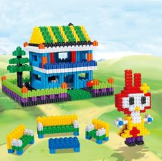 [$2.80] Diy Puzzle Toy Building Blocks Variety (Colour: A Pack Of 10 Color Mix)