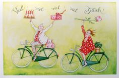"Christina Thrän | Briefkarte ""Viel, viel,viel, viel Glück"""