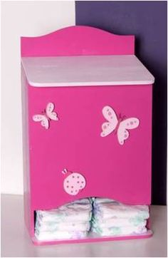 Cute Furniture, Baby Room Furniture, Hand Painted Furniture, Furniture Makeover, Baby Nursery Decor, Baby Decor, Diaper Holder, Baby Shawer, Baby Memories
