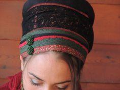Dunkle Winter Sinar Tichel Haar Snood Kopftuch von SaraAttaliDesign
