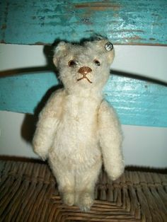 Little antique white Steiff bear for sale!