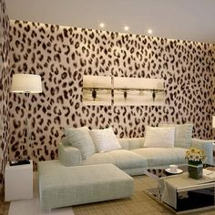 Cheap wallpaper black, Buy Quality wallpaper stone directly from China wallpaper clock Suppliers: Modern Leopard pattern mural walls wallpaper rolls for walls vintage papel de parede infantil for home decorate tapete Basement Furniture, Home Decor Furniture, Leopard Bedroom Decor, Leopard Print Bedroom, Cheetah Print Wallpaper, Animal Print Decor, Leopard Wall, Room Wallpaper, Cheap Wallpaper