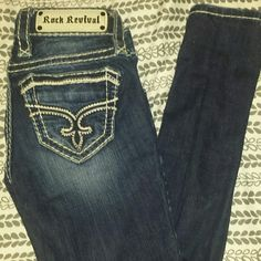 Rock Revival super skinny jeans size 24 Up for trade possibilitys In perfect condition Buckle Jeans