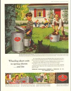 1957 vintage ad for Wheeling Corrugating Co. -1487