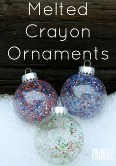 Make these melted crayon ornaments today for a quick and fun DIY decoration!