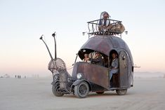 The Golden Mean, an art car built on the chassis of a 1966 VW Beetle by metal artist Jon Sarriugarte. Burning man 2012.