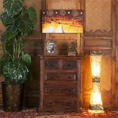 Lampe Sablier avec deux emplacements pour les ampoules. Dresser, Antiques, Furniture, Home Decor, Hourglass, Light Fixtures, Antiquities, Powder Room, Antique